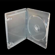 20 Single Clear Blu ray Case 14 mm Spine New Empty Replacement Disk Amaray Cover