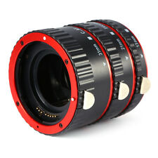 Red Auto Focus AF Macro Extension Tube Set Ring Adapter For Canon EF EFS Lens