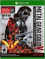 NEW Metal Gear Solid V 5: Definitive Edition (Microsoft Xbox One, 2016)