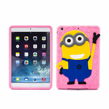 Hot Pink 3D Cute Gel Silicone Soft Rubber Back Case Skin For Apple iPad Mini