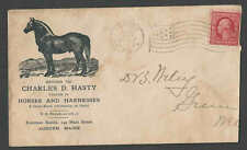 DATED 1909 COVER AUBURN ME CHAS D HASTY SELLS HORSES & HARNESSES SEE INFO