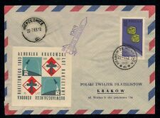 1963 POLAND rocket mail cover KRAKOW AEROCLUB - EZ 4C1