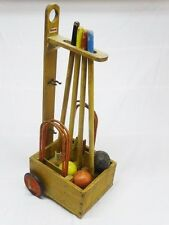 VINTAGE CHILDRENS TRIANG CROQUET SET WOODEN TOY COLLECTABLE 1960/70s