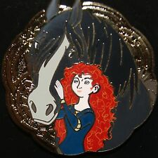 Disney BRAVE Princess Merida With Angus Horse Pin New Release On Original Card