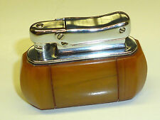 "COLIBRI ""MONOPOL"" VINTAGE AMBER/BERNSTEIN AUTOMATIC POCKET LIGHTER - GERMANY"