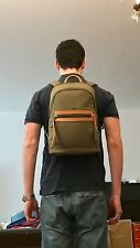 Tumi Dean Unisex Backpack Green and Tan Verona New with tags Originally $345