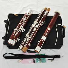 Professional Old Maple Bassoon Silver Plated key Heckel system High D E New Case