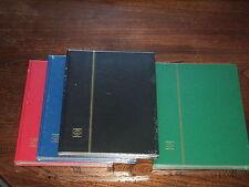 5 ALBUMS NEUFS LEUCHTTURM : CLASSEUR FORMAT A4 32 PAGES FOND NOIR 2000 TIMBRES