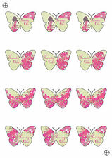 12 Happy 21st Birthday Girl Butterfly Shaped Cupcake Toppers Cake Decorations