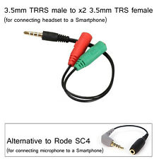 Rode SC4 ALTERNATIVE, 3.5mm TRRS male to 3.5mm TRS female (Mic to Smartphone)