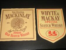 WHYTE & MACKAY SCOTCH WHISKY BEER MATS X2