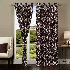 Premium Brown U 7Ft Door Curtains-Set of 2