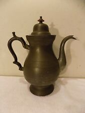 Antique 19th Century Pewter Teapot Coffee Pot