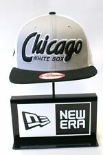 New Era 9FIFTY Chicago White Sox Logo Noir Taille S / M Snapback Casquette de baseball hat