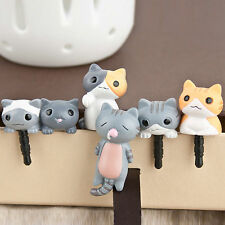 1Pcs Cute 3.5mm Cheese Cat Earphone Ear Cap Anti Dust Plug Cover For Cell Phone