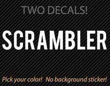 2x SCRAMBLER Decal - No Background sticker - Ducati Sixty2 BMW nineT Triumph