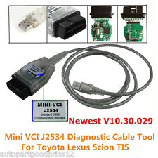 Mini VCI J2534 Diagnostic Cable For Toyota Lexus Scion TIS Techstream v10.30.29