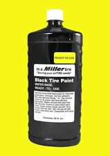 Miller Tire  BLACK TIRE PAINT for Antique Farm Tractor 1 Qt. E844QR