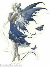 "Blue Nocturne Fairy Sticker Blue Fairy with Ivy and Butterflies 4.5""x6"" die-cut"