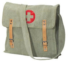 SALE! Vintage Style Green Military Para Medic Shoulder Bag Messenger Pack
