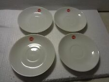 "Continental Airlines 5"" Saucer Set Of 4 Red Tail Of The Proud Bird Logo"