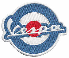"VESPA Scooter Roundel embroidered cloth patch 3"" dia."