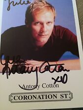 6x4 Hand Signed Photo Coronation Street Sean Tully - Antony Cotton