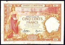 French Somaliland Djibouti 500 francs 1938  P-9b