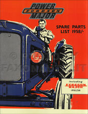 1952-1961 Fordson Major and Power Major Tractor Parts Book Illustrated Catalog