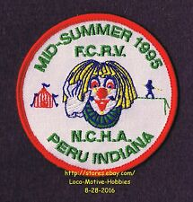 LMH PATCH Badge 1995 NCHA CLOWN Sumer Campout Nat'l Campers Hikers FCRV Family