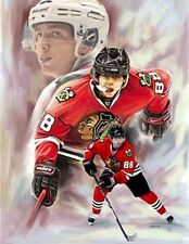 Patrick Kane : giclee print on canvas poster painting for autograph  B-0204
