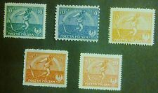 POLAND-STAMPS MNH Fi125I-127II Sc154-55A, 191 Mi158-60, 162-63 -Sowing man-1921