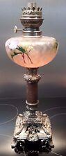lampe a petrole metal marbre cristal/Old marble/ metallic petro. lamp