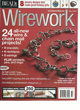 BEAD & BUTTON,  WIRE WORK  SPECIAL   FALL, 2013  ( 24 ALL NEW WIRE & CHAIN MAIL