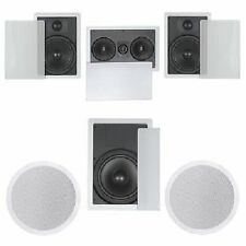 FLUSH IN-WALL CEILING SPEAKERS 5.1 HOME THEATER SURROUND
