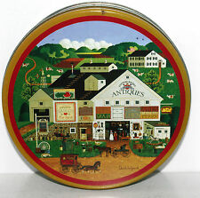 OLIVE CAN CO Charles Wysocki PEPPERCRICKET FARMS Tin Box Container Canister 6.5""
