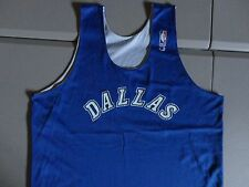 Reversible Vintage Champion Brand Dallas Mavericks NBA Practice Jersey NICE SZ L