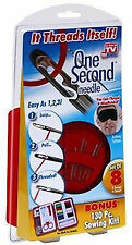 ONE SECOND NEEDLE As Seen On TV & Bonus 130 Pc Sewing Kit