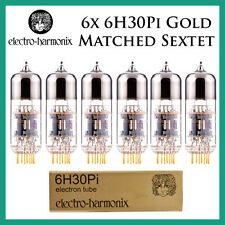New 6x Electro Harmonix Gold 6H30Pi | Matched Sextet / Six Tubes | EH
