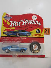 HOT WHEELS 1993 VINTAGE COLLECTION TOY SHOW 1995 CUSTOM MUSTANG BLUE W/ BUTTON
