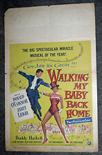 WALKING MY BABY BACK HOME original 1953 movie poster JANET LEIGH/DONALD O'CONNOR