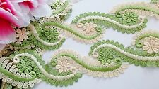 Good quality,2 color embroidery lace trim/ribbon - price for 1 yard