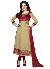 DivyaEmporio Faux Crepe  Unstitched Salwar Suit Dress Material (SST-3976)