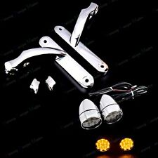 CH Auxiliary Brackets&Led Turn Signals Lens For Harley Street Glide FLHX 06-13