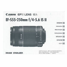 Canon EF-S 55-250mm f/4-5.6 IS II *Original Manual*
