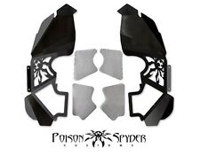 Poison Spyder Vented Front Inner Fender Kit Black PC for 07-16 Jeep Wrangler JK