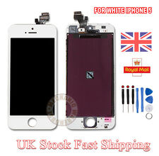 LCD Touch Screen Display Digitizer Lens Assembly Replacement For iPhone 5 White