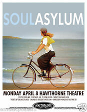 SOUL ASYLUM 2013 PORTLAND CONCERT TOUR POSTER - Alternative & Punk Rock Music