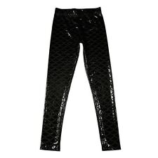 Mermaid Shiny Dotted Dragon Fish Scale Leggings Fashion Open Bright Color DB