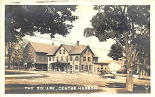 """Center Harbor NH """"The Square"""" Dirt Street Post Office & Store RPPC Postcard"""